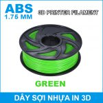 Day So Nhua In 3d ABS Green