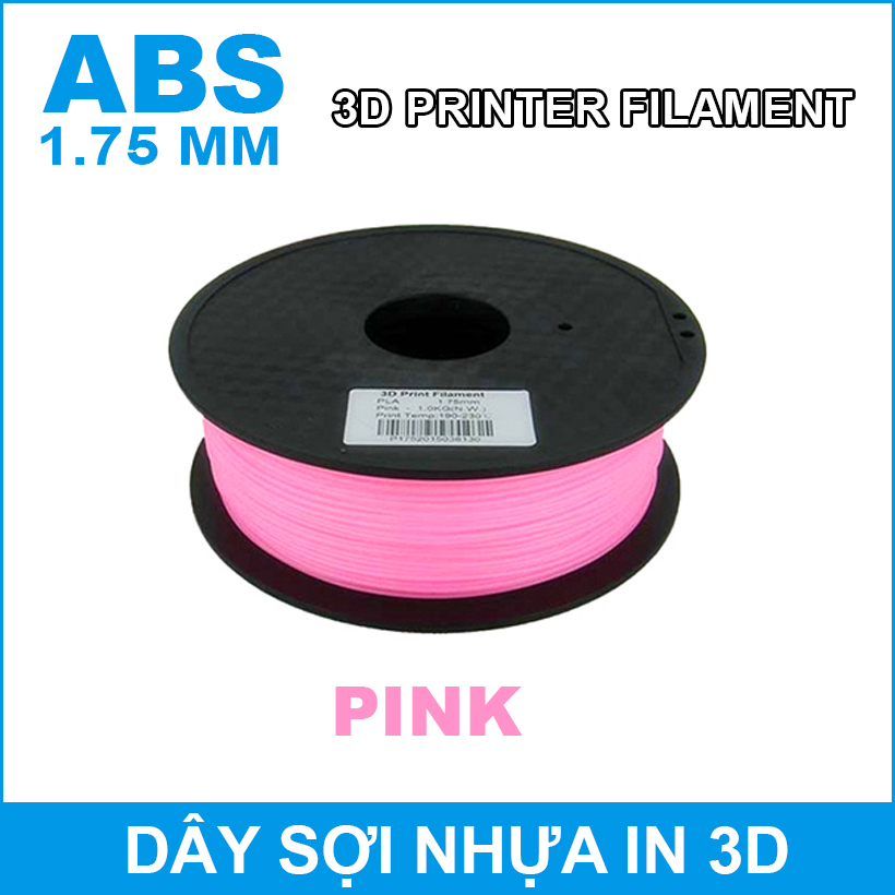 Day So Nhua In 3d ABS Pink