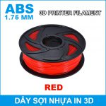 Day So Nhua In 3d ABS Red