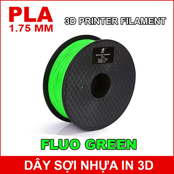 Day So Nhua In 3d PLA Fluo Green