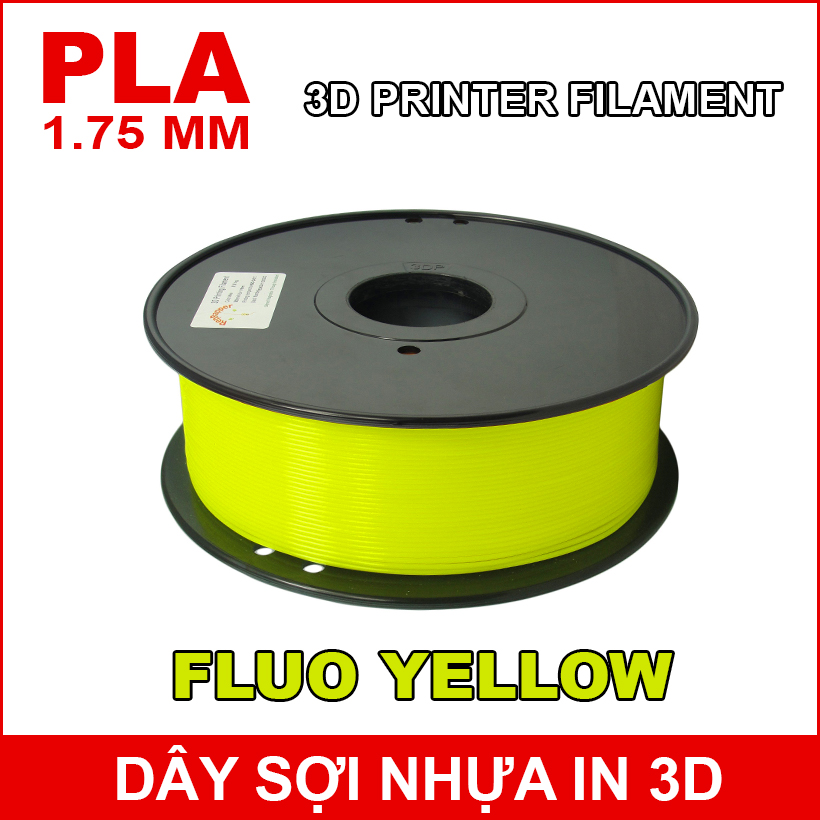 Day So Nhua In 3d PLA Fluo Yellow