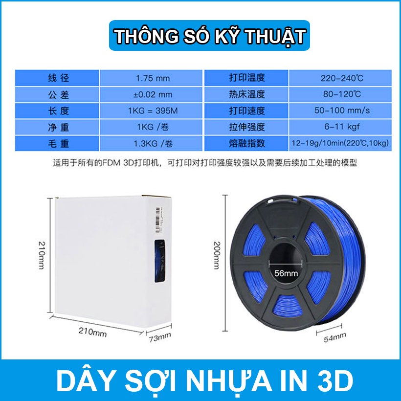 Thong So Ky Thuat So Nhua In 3d ABS