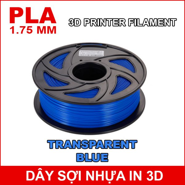 Day So Nhua In 3d PLA Dark TRANSPARENT BLUE