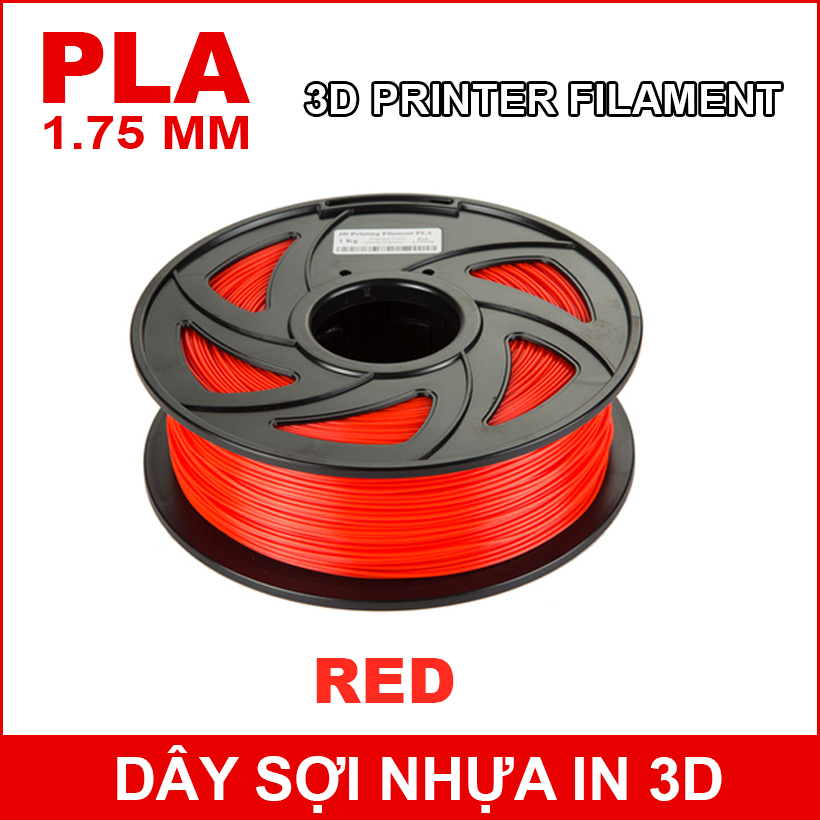 Day So Nhua In 3d PLA RED