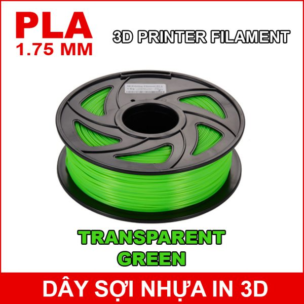 Day So Nhua In 3d PLA TRANSPARENT GREEN