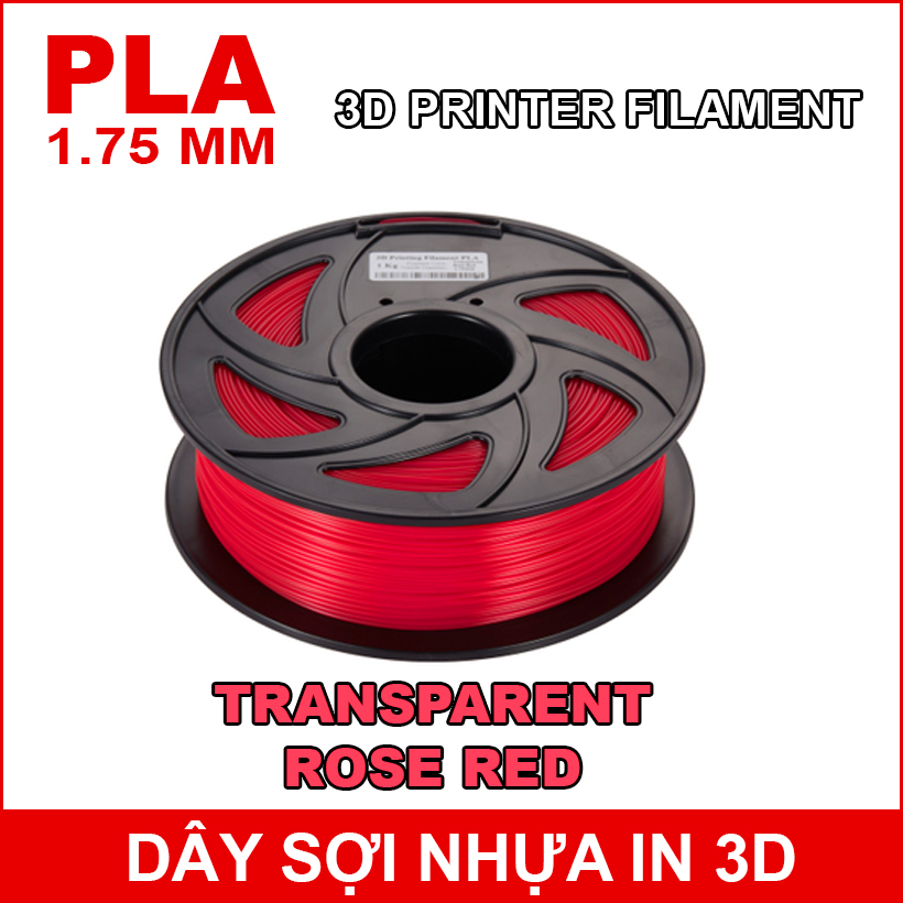 Day So Nhua In 3d PLA TRANSPARENT ROSE RED