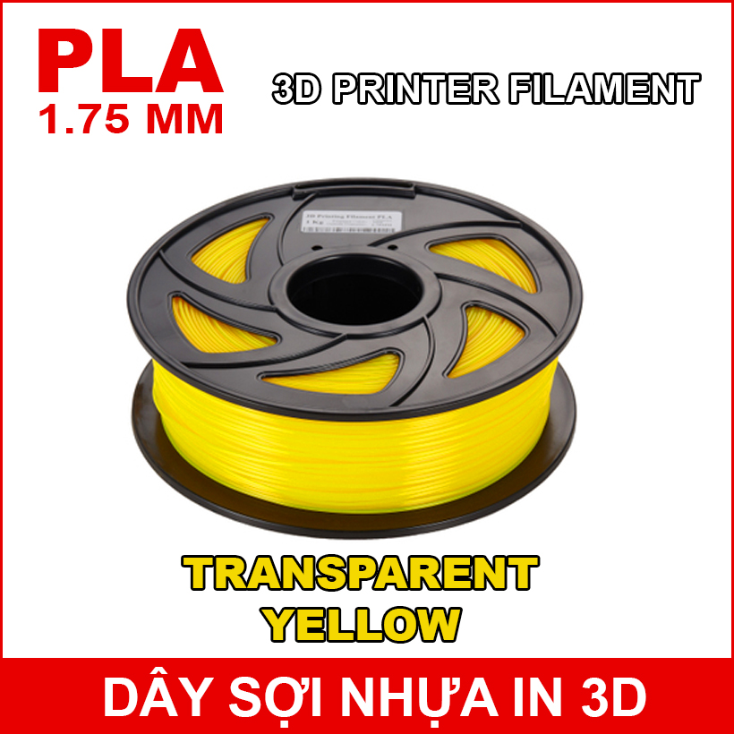 Day So Nhua In 3d PLA TRANSPARENT YELLOW