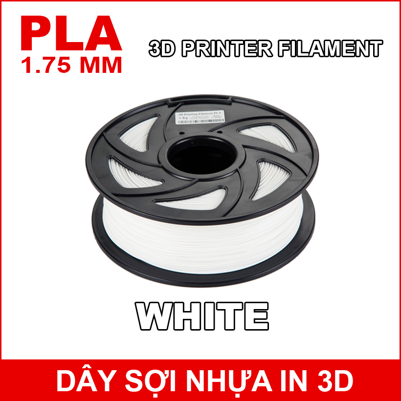 Day So Nhua In 3d PLA WHITE